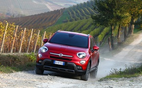 Картинка Red, Fiat, Cross, 500X, (2015)