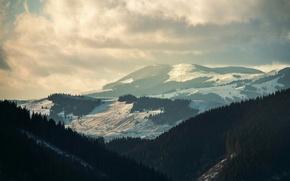 Картинка зима, снег, горы, альпы