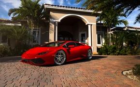 Картинка Lamborghini, red, Miami, Florida, Huracan