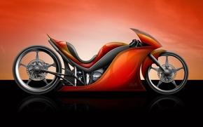Обои Байк, мотоцикл, красный