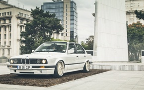 Картинка Car, White, E30, LowSociety, BMW, Stance