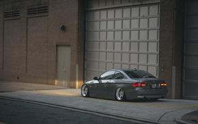 Картинка улица, BMW, колеса, 335i, сторона, задние фонари, задний