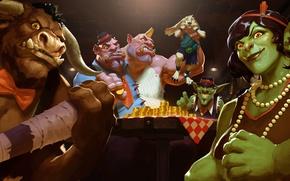 Картинка монеты, Огр, гоблин, Таурен, family, клан, Hearthstone: Heroes of Warcraft, Хартстоун, новое дополнение, new adventure, …