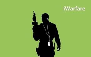 Картинка iPod, Call of Duty, Modern Warfare 3, Слодат