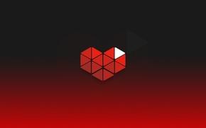 Картинка сердце, red, hearts, youtube, gaming, геймеры