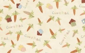 Картинка надпись, текстура, морковка