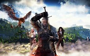 Картинка Ведьмак, Геральт, CD Projekt RED, The Witcher 3: Wild Hunt, Geralt, Ведьмак 3: Дикая Охота, ...