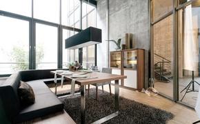 Картинка дизайн, стиль, комната, интерьер, modern, room, столовая, лофт, loft, dining