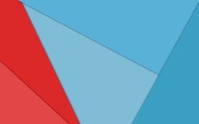Картинка линии, красный, абстракция, голубой, геометрия