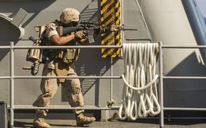 Картинка оружие, солдат, мужчина, экипировка, штурмовая винтовка, MGL, ручной гранатомет