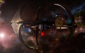 Картинка космос, звёзды, commission, nor station