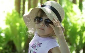 Картинка лето, ребенок, очки, девочка, разное