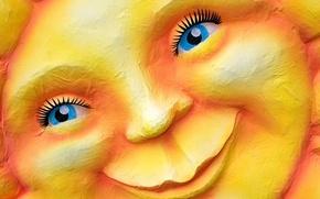 Картинка солнце, улыбка, Германия, карнавал, Дюссельдорф, Северный Рейн-Вестфалия