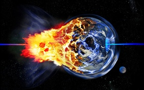 Обои Катастрофа, планета, взрыв