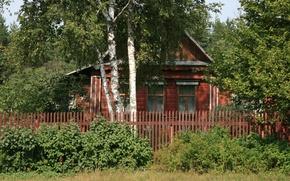 Картинка природа, дом, фон, обои, интерьер, деревня, картинка
