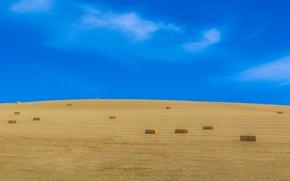 Картинка sky, hay, harvest, farmland