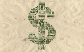 Картинка бумага, надписи, доллар, валюта