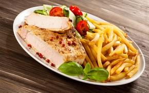 Обои мясо, помидор, специи, картофель, meat, tomato, spices