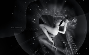 Картинка девушка, чёрно-белое, АлексейМарина