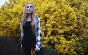 Картинка View, Beauty, Yellow, Gorokhov, Model, Mary Jane, Girl, Portait, Nice, Flowers, Foliage