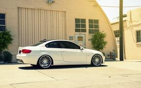 Картинка BMW, white, E92, 328i, MRR Wheels