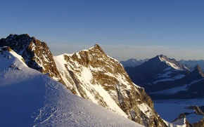 Обои снег, холод, горы, пейзажи, мороз, зима, природа, вершины, скалы