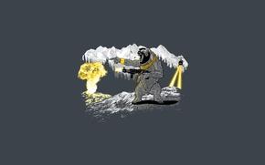 Картинка оружие, медведь, горы, mountain, взрыв, bear, gun, вертолет