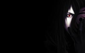 Картинка dark, sharingan, madara, учиха, мадара, uchiha, mask, обито, obito, sight, behind
