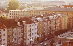 Картинка город, улица, дома, Брно