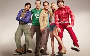 Картинка сериал, актеры, The Big Bang Theory, шелдон, пенни