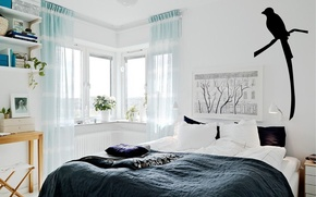 Картинка дизайн, стиль, комната, интерьер, спальня, скандинавский