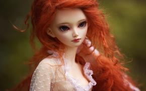 Картинка игрушка, кукла, рыжеволосая