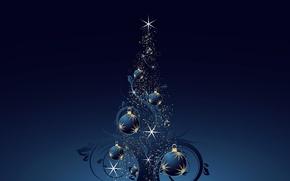 Картинка игрушки, елка, вектор, Новый Год, Рождество, украшение, открытка