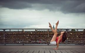 Обои шорты, девушка, грация, Emilie Caillon, танец, ножки