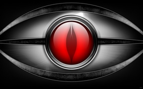 Картинка красный, дизайн, глаз, Металл