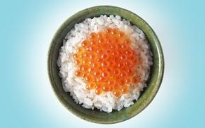 Обои Чашка, красная, рис, икра