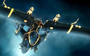 Картинка Трон: Наследие, транспортное средство, TRON Legacy, Daniel Simon, Даниэль Саймон, Three Man Light Jet