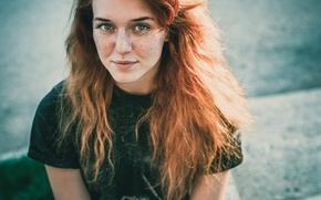 Картинка девушка, веснушки, рыжая, Алексей Морозов