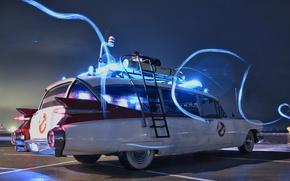 Картинка Охотники за привидениями, Ghostbusters, ECTO-1, Cadillac Miller Meteor