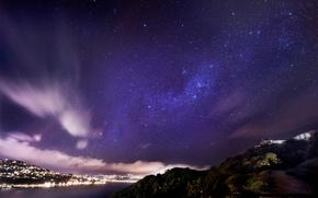 Картинка небо, звезды, город