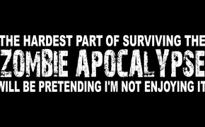 Картинка Zombie Apocalypse, hardest, surviving