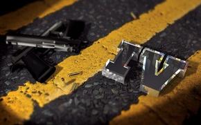 Картинка разметка, пистолеты, патроны