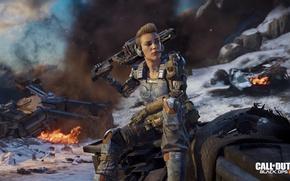 Картинка Девушка, пушки, мехи, Call of Duty: Black Ops 3, герой солдат