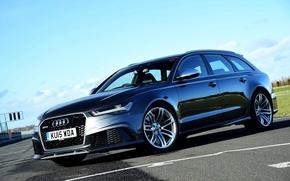 Обои авант, UK-spec, Avant, 2014, ауди, RS 6, Audi
