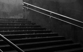 Обои стены, лестница, спуск, лестницы, дождь, ручки, вода, ступеньки, настроение, города, поручни, подземный переход, ступенька, подземные ...