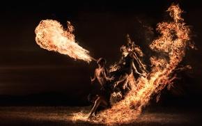 Картинка люди, огонь, фаер-шоу