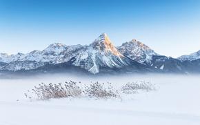 Обои зима, горы, снег