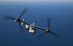 Картинка полет, конвертоплан, Osprey, MV-22B