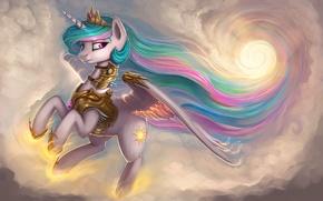 Картинка фэнтези, My Little Pony: Friendship Is Magic, Принцесса Селестия, Princess Celestia, by Rain-Gear