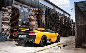 Картинка Lamborghini, жёлтая, Murcielago, adv1